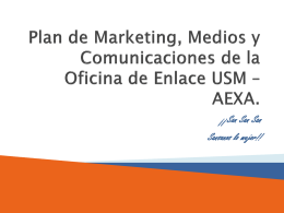 Plan de Marketing, Medios y Comunicaciones de la Oficina