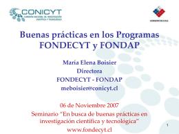 CONICYT PLAN ESTRATEGICO 2006-2010