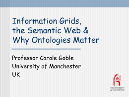 Grid, Ontologies and the Semantic Web