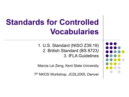A New Standard for Controlled Vocabularies - NKOS
