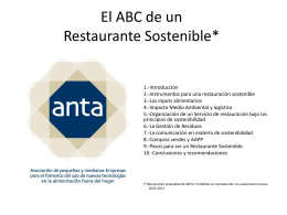 El ABC de un Restaurante Sostenible