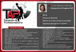 Diapositiva 1 - Programa TAP
