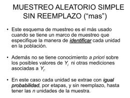 "5. MUESTREO ALEATORIO SIMPLE SIN REEMPLAZO (""mas"")"