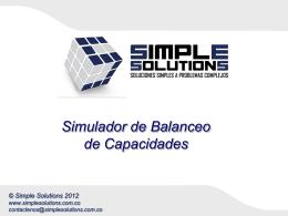 Simulador de Balanceo de Capacidades