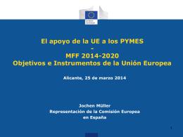 El apoyo de la UE a los PYMES - MFF 2014