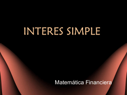 INTERES SIMPLE - Adriana Suarez
