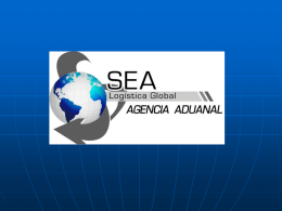 Diapositiva 1 - SEA Logistica Global