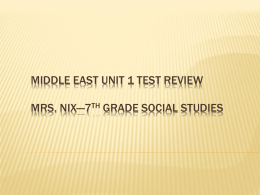 Middle East Unit 1 Test review