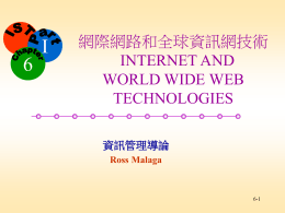 Internet and World Wide Web Technologies