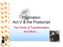Pygmalion Act V