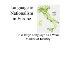 Language & Nationalism in Europe