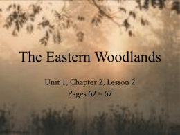 The Eastern Woodlands - Edmond Public Schools