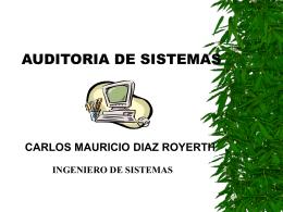AUDITORIA DE SISTEMAS - camadiro
