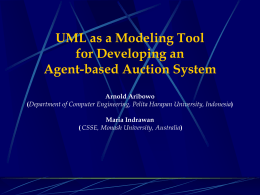 UML as a Modelling Tool for Developing an Agent
