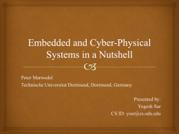 Embedded and Cyber-Physical Systems in a Nutshell