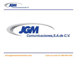 JGM COMUNICACIONES SA DE CV