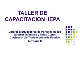 TALLER DE CAPACITACION IEPA