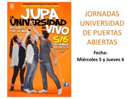 JORNADAS UNIVERSIDAD DE PUERTAS ABIERTAS