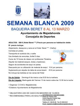 Semana Blanca 2004 Baqueira Beret 18/24 de enero 2004