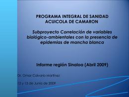 PROGRAMA INTEGRAL DE SANIDAD ACUICOLA DE …