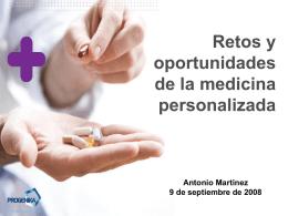 Retos y oportunidades de la medicina personalizada