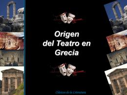 Origen del teatro en Grecia