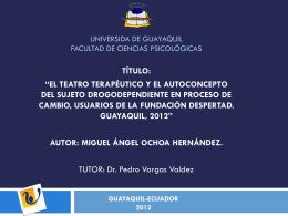 UNIVERSIDA DE GUAYAQUIL FACULTAD DE CIENCIA S …