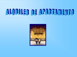 AG2- Alquiler de apartamento