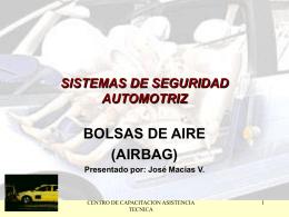 SISTEMAS DE SEGURIDAD AUTOMOTRIZ