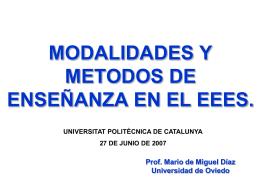 Modalidades Organizativas - Prof Dr Alberto Romero Ania