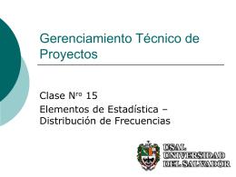 Clase 15b - Estadisitica - Distrib. de Frecuencias