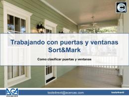 Trabajando con Puertas y Ventanas: Sort&Mark 2010.1