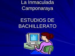 ESTUDIOS DE BACHILLERATO LOE