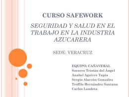CURSO SAFEWORK SEGURIDAD Y SALUD EN EL TRABAJO …