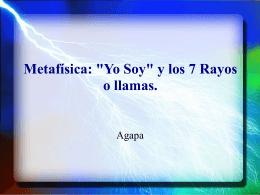 """Metafisica : """" Yo Soy """" y los 7 Rayos o Llamas"""