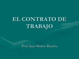 EL CONTRATO DE TRABAJO - Facultad de Derecho