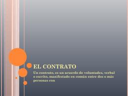 EL CONTRATO - liamal