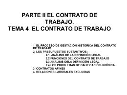 PARTE II EL CONTRATO DE TRABAJO. TEMA 6 EL …