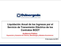 Diapositiva 1 - OSINERGMIN -GART