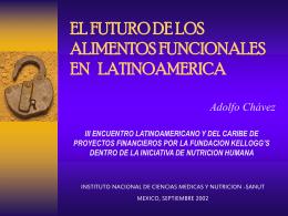 LOS ALIMENTOS FUNCIONALES: Presente y Futuro