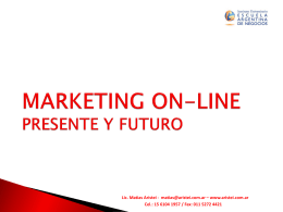MARKETING ON-LINE PRESENTE Y FUTURO