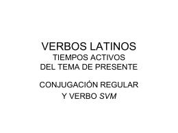 VERBOS LATINOS