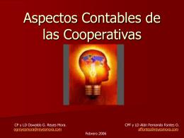 Aspectos Contables de las Cooperativas
