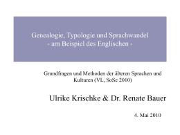 Genealogie, Typologie und Sprachwandel