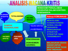 Wacana Kritis - Blog at UNY dot AC dot ID