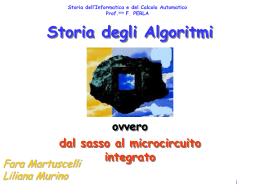 La Storia degli Algoritmi