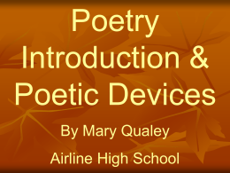 Poetic Devices - World of Teaching