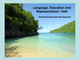 Language, Education and Representation:Haiti