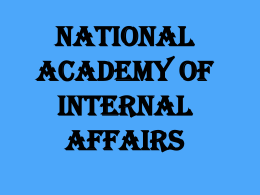 NATIONAL ACADEMY OF INTERNAL AFFAIRS