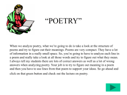 "POETRY"" - Cuyamaca College"